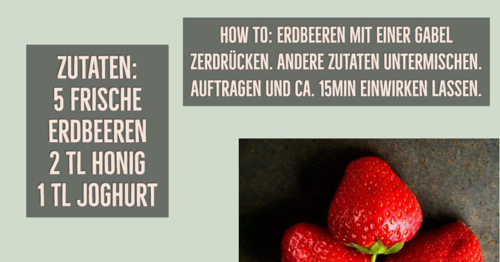 Gesichtsmaske gegen fettige Haut mit Erdbeeren