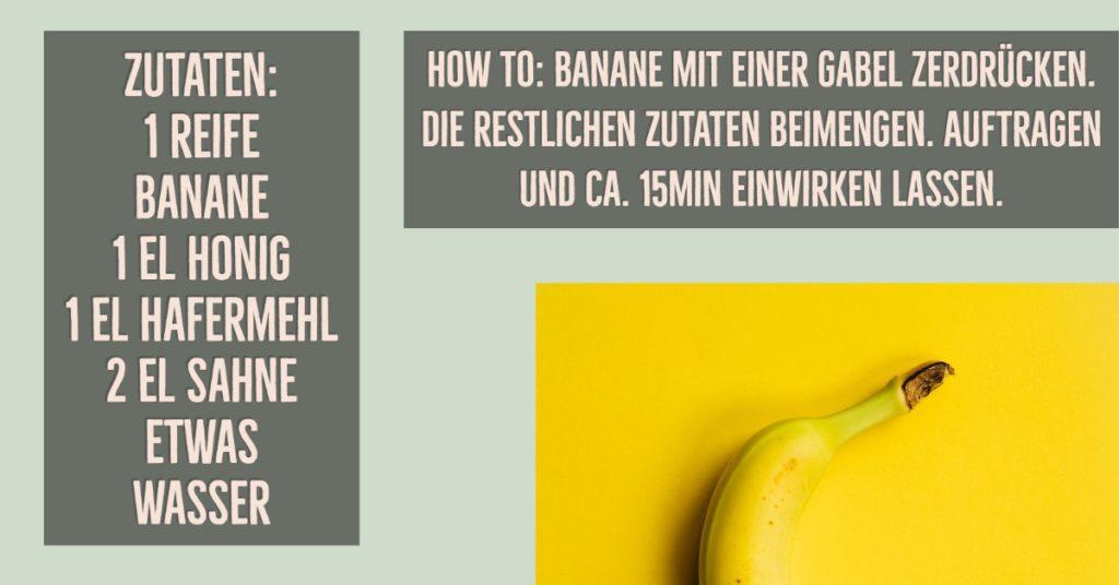 Gesichtsmaske gegen trockene Haut mit Banane