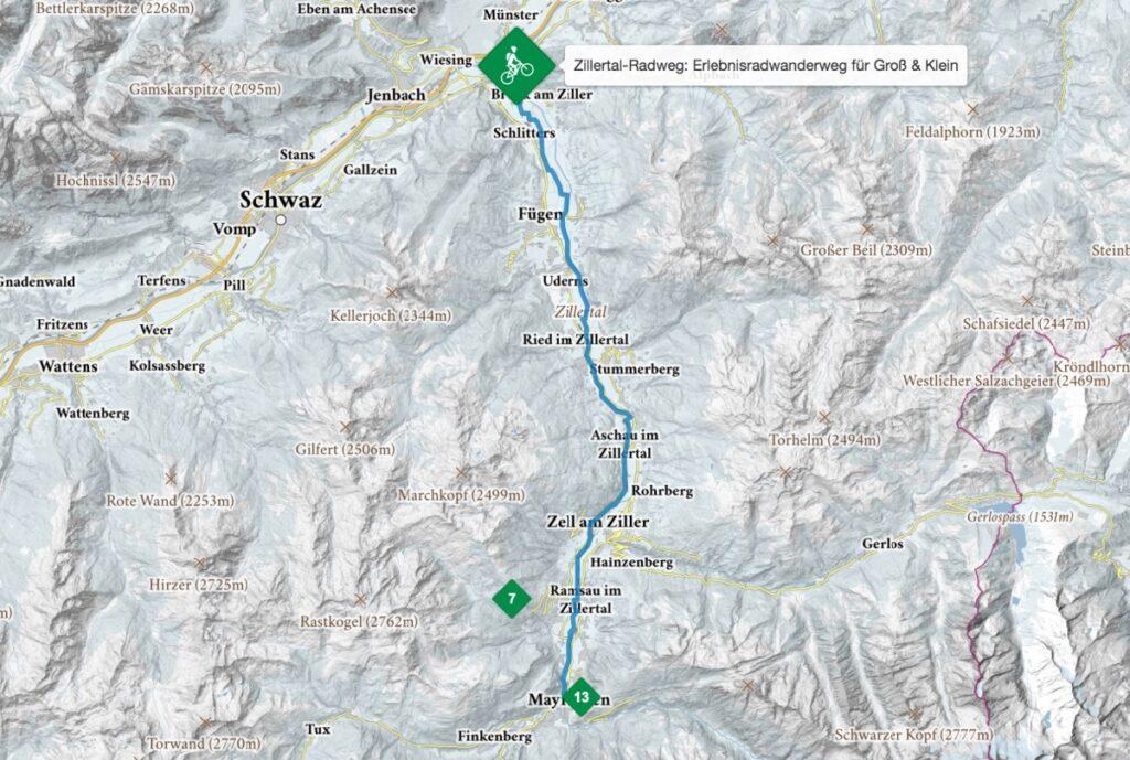 Route Zillertalradweg