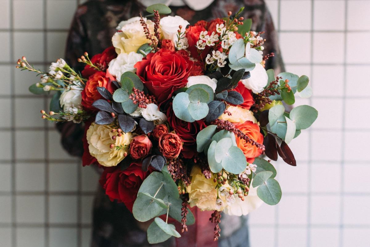 Bild mit Blumenstrauß